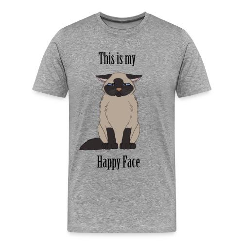 Happy Face - Siamese Cat - Men's Premium T-Shirt