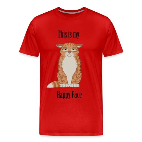 Happy Face - Yellow Cat - Men's Premium T-Shirt