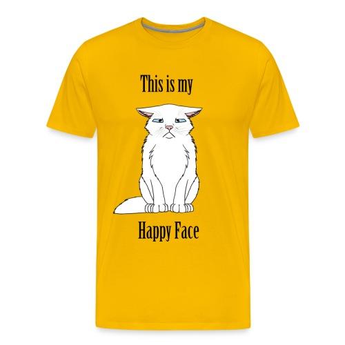 Happy Face - White Cat - Men's Premium T-Shirt