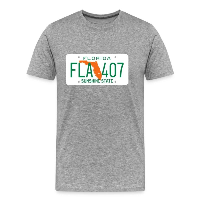 Retro florida license plate fla 407 t shirt spreadshirt for T shirt licensing agreement