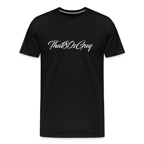 That80sGuy Mens Bland T-Shirt (Logo 2) (Black) - Men's Premium T-Shirt