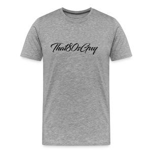 That80sGuy Mens Bland T-Shirt (Logo 2) (White) - Men's Premium T-Shirt