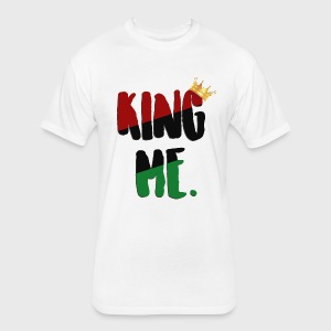 King Me - Fitted Cotton/Poly T-Shirt by Next Level