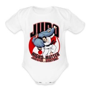 Judo Highs Matter - Short Sleeve Baby Bodysuit