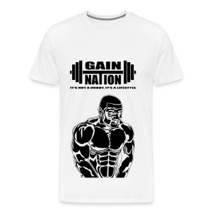 Gain Nation Muscle Man Black - Men's Premium T-Shirt