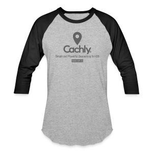 Cachly baseball shirt in Heather Gray - Baseball T-Shirt