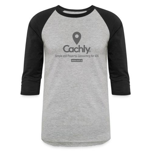 Cachly baseball shirt in Heather Gray - Baseball T-Shirt