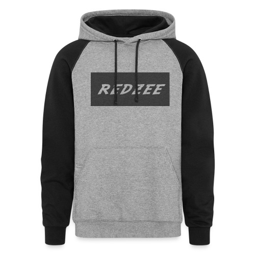 Black and Grey Redzee Jumper - Colorblock Hoodie