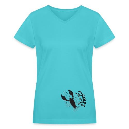Lobster - Women's V-Neck T-Shirt
