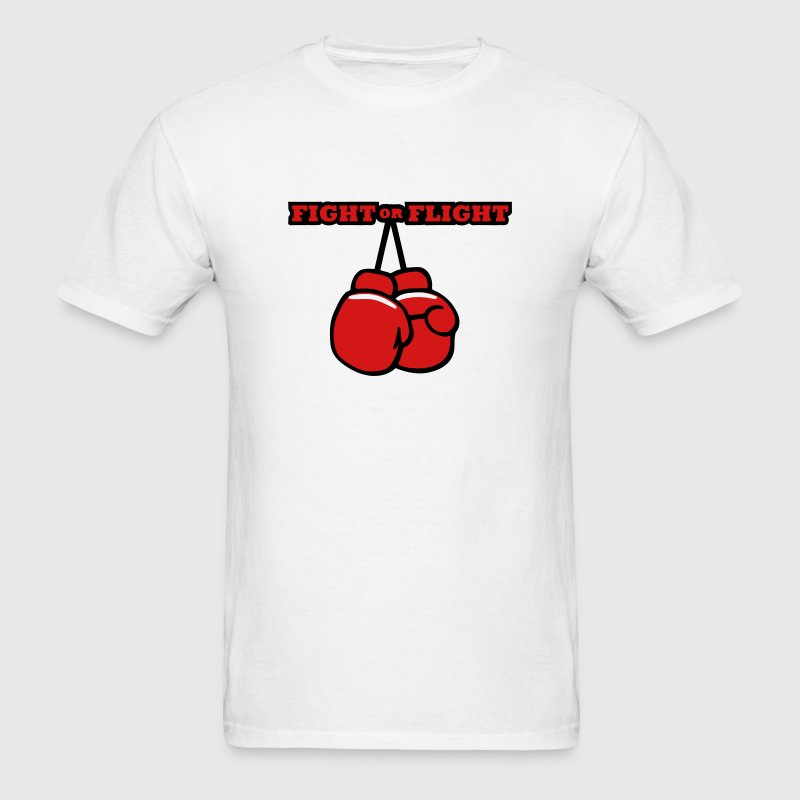 Fight or Flight Cartoon Boxing Gloves Design T-Shirts - Men's T-Shirt