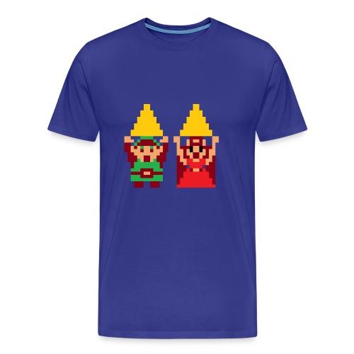 Link & Zelda with Triforce - Men's Premium T-Shirt