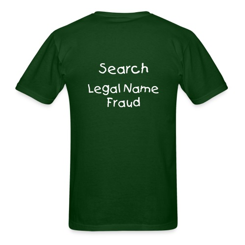 Graceful Inflowment, Search Legal Name Fraud - Men's T-Shirt