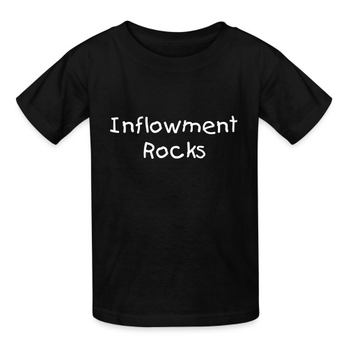 Kids Inflowment Rocks, White text - Kids' T-Shirt