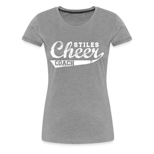Women's Stiles Cheer Mom | White - Women's Premium T-Shirt