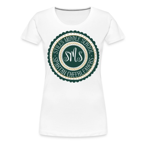 Women's Spartan Cheerleader | Green Gold Emblem - Women's Premium T-Shirt