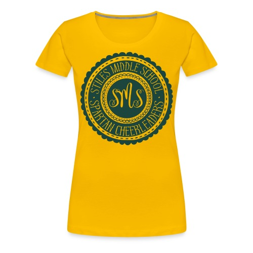 Women's Spartan Cheerleader | Green Emblem - Women's Premium T-Shirt