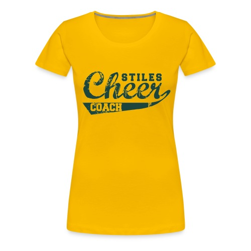 Women's Stiles Cheer Coach | Green - Women's Premium T-Shirt