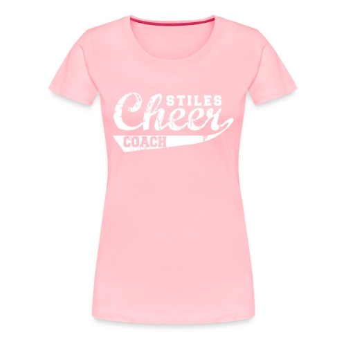 Women's Stiles Cheer Coach | White - Women's Premium T-Shirt