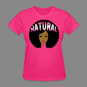Afro (Pink Natural) - Women's T-Shirt