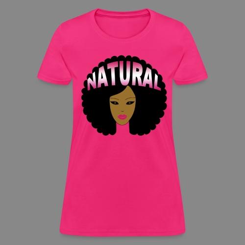 Afro (Pink Natural) - Women's T-Shirt