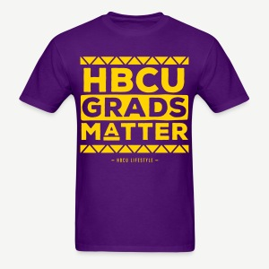 HBCU Grads Matter - Men's Purple and Gold T-shirt - Men's T-Shirt