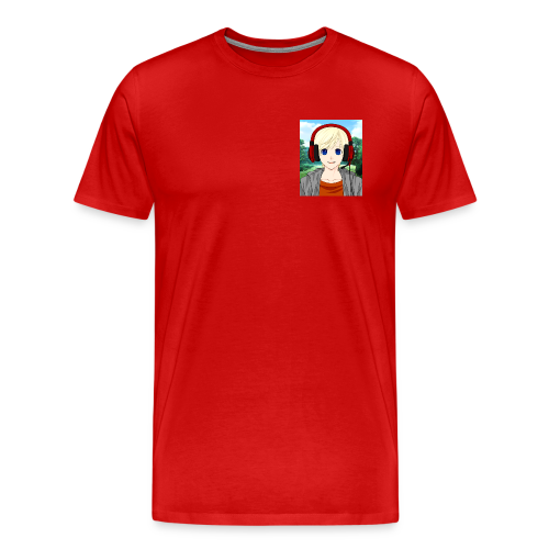 Mens | Liamanime Logo Red Tee - Men's Premium T-Shirt
