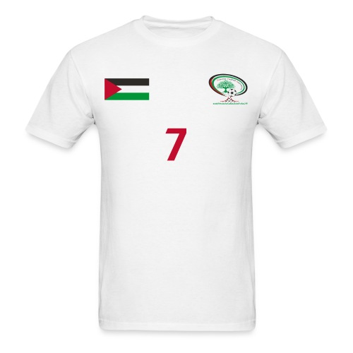 [Ashraf Nu'man] Palestine National Football Player [WHITE] Shirt - Men's T-Shirt