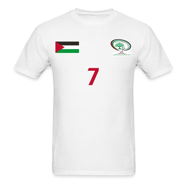 411d2b6dd  Ashraf Nu man  Palestine National Football Player  WHITE  Shirt