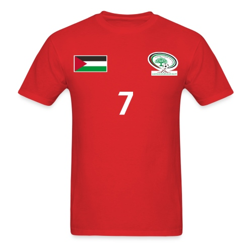 [Ashraf Nu'man] Palestine National Football Player [RED] Shirt - Men's T-Shirt