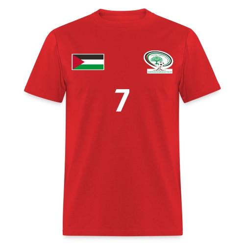 [Ashraf Nu'man] Palestine National Football Player [RED] Shirt - Men's T-Shirt