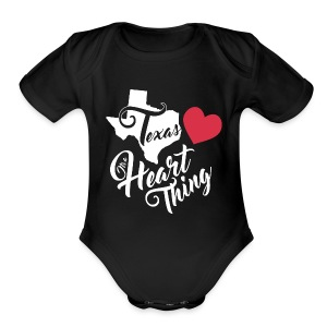 It's a Heart Thing Texas - Short Sleeve Baby Bodysuit