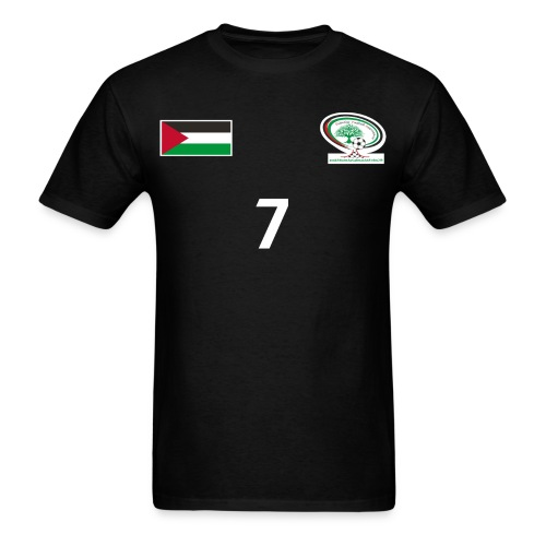 [Ashraf Nu'man] Palestine National Football Player [BLACK] Shirt - Men's T-Shirt