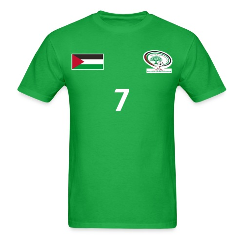 [Ashraf Nu'man] Palestine National Football Player [GREEN] Shirt - Men's T-Shirt