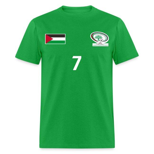 196040a60  Ashraf Nu man  Palestine National Football Player  GREEN  Shirt