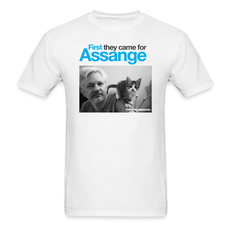 First they came for Assange - Men's T-Shirt