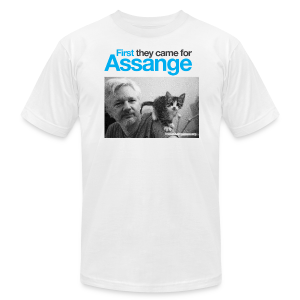 First they came for Assange - Men's T-Shirt by American Apparel