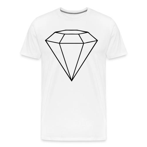 GEMMERJOHNNY WHITE PLAIN TEE - Men's Premium T-Shirt