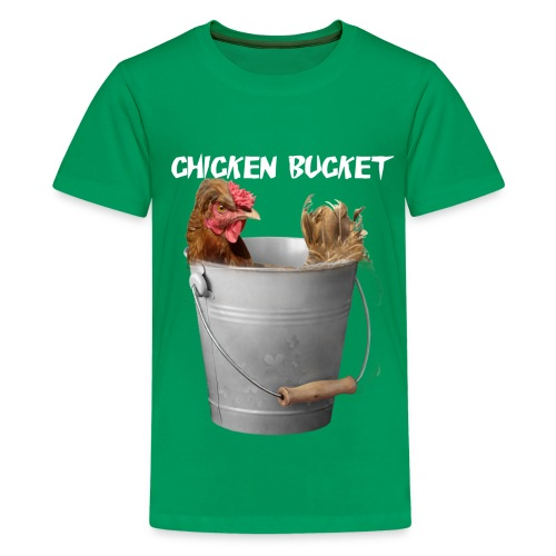 Chicken Bucket Kids Green T-Shirt - Kids' Premium T-Shirt