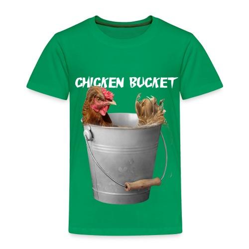 Chicken Bucket Toddler Green T-Shirt - Toddler Premium T-Shirt