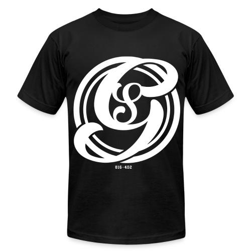 GS logo wht - Men's Fine Jersey T-Shirt