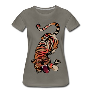 Fierce Tiger Pouncing - Women's Premium T-Shirt