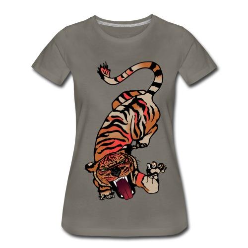 Fierce Tiger Pouncing - Women's Premium T-Shirt