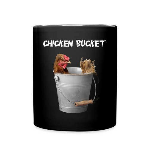 Chicken Bucket Black Mug - Full Color Mug