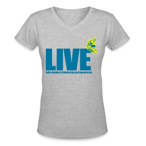 LIVE Logo Women's V-Neck T-Shirt - Women's V-Neck T-Shirt