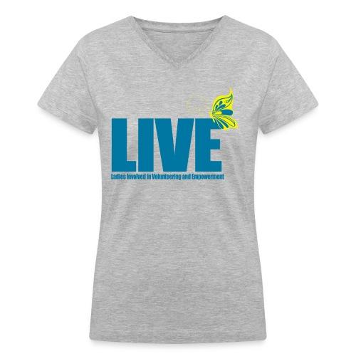 LIVE Logo Women's V-Neck T-Shirt - Women's V-Neck T-Shirt