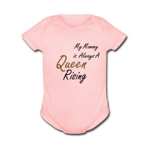 Mommy Reigns Baby Girl   Pink - Short Sleeve Baby Bodysuit