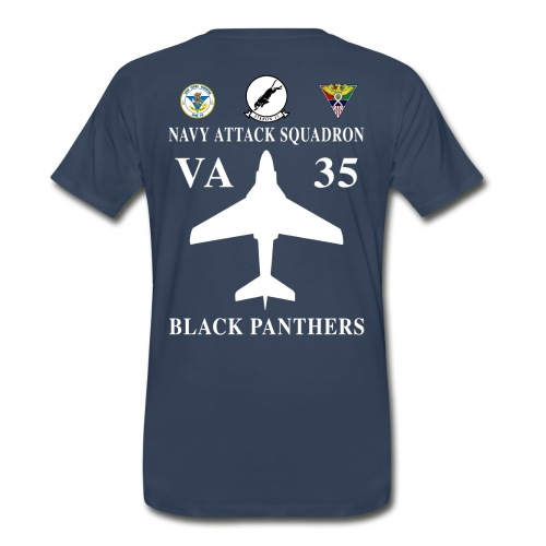 VA-35 BLACK PANTHERS w/ USS CARL VINSON - Men's Premium T-Shirt