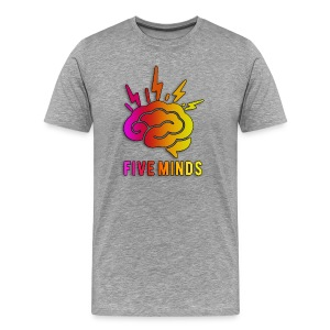 Men FiveMinds Logo+Name - Men's Premium T-Shirt