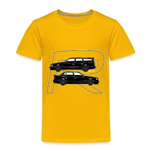 Volvo 850R T5-R Swedish Turbo Black Outline - Toddler Premium T-Shirt
