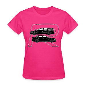 Volvo 850R T5-R Swedish Turbo Black Outline - Women's T-Shirt